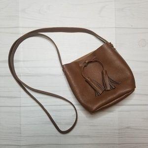 Shaffer Los Angeles Tan Leather Gretta Purse